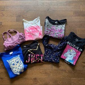 Justice Shirt Bundle - 7 shirts